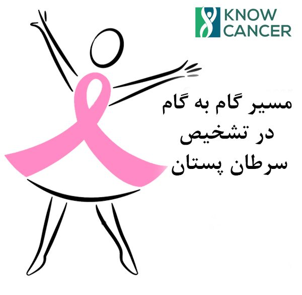 اینفوگراف مسیر تشخیص و غربالگری سرطان پستان