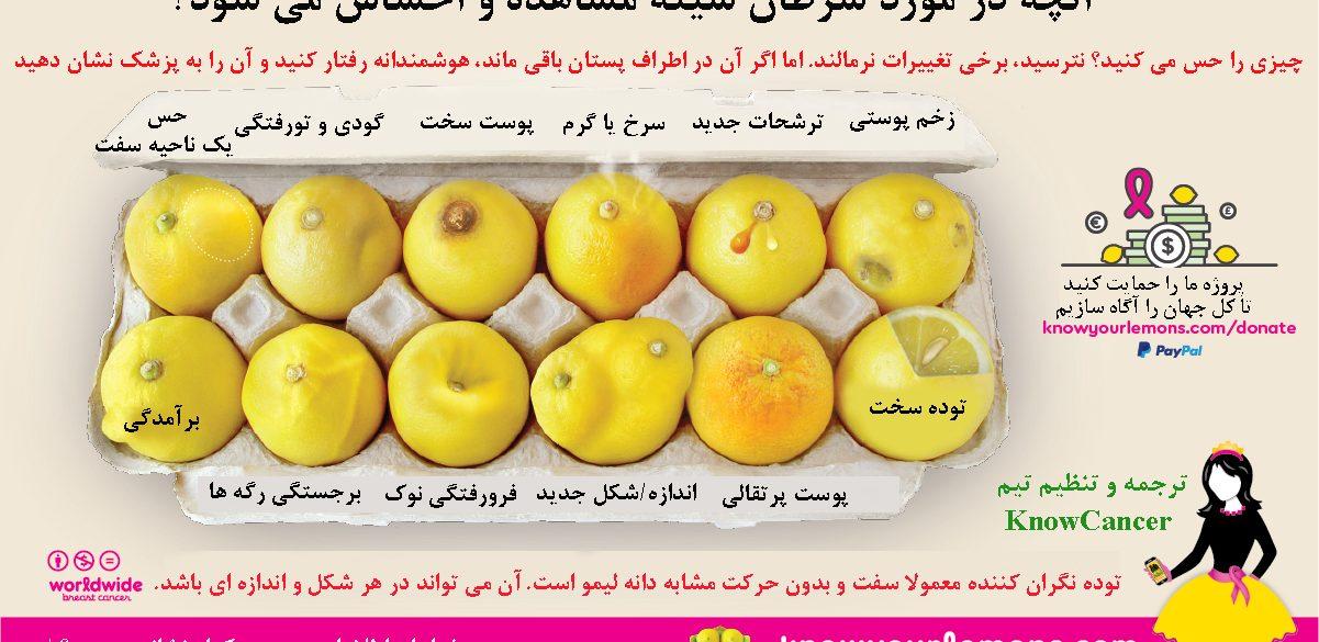 کمپین لیموی خود را بشناسید گامی موثر در شناخت سرطان پستان