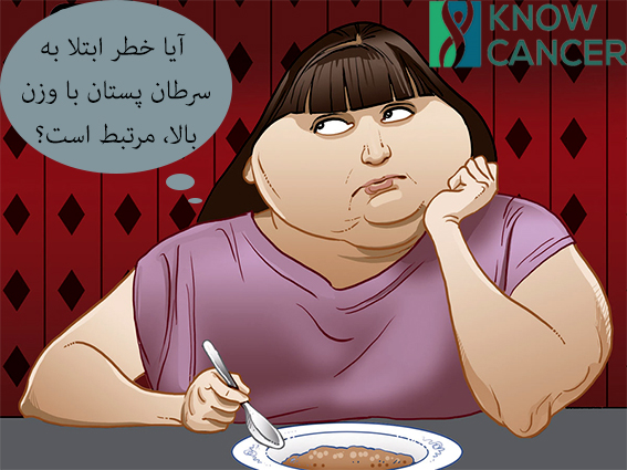 رابطه خطر ابتلا به سرطان پستان با وزن بالا